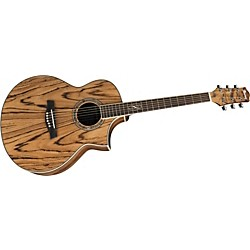 Ibanez EW20ZWE EXOTIC WOOD SERIES Zebrawood Acoustic-Electric Guitar (EW20ZWENT USED)