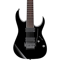 Ibanez Iron Label RGIR27E 7-String Electric Guitar with Tremolo and EMG Pickups (RGIR27EBK)