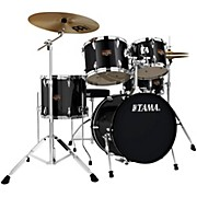 "Tama Imperialstar 5-Piece Drum Set with 18"" Bass Drum and Meinl Cymbals"