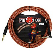 "Pig Hog Instrument Cable Western Plaid 1/4"" to 1/4"" Right Angle (10 ft.)"