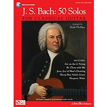 Cherry Lane J.S. Bach - 50 Solos for Classical Guitar Guitar Series Softcover Audio Online