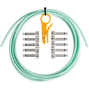 Lava Mini ELC Cable and Right Angle Solder-Free Connectors (5 Pairs) with Wire Stripper Surf Green