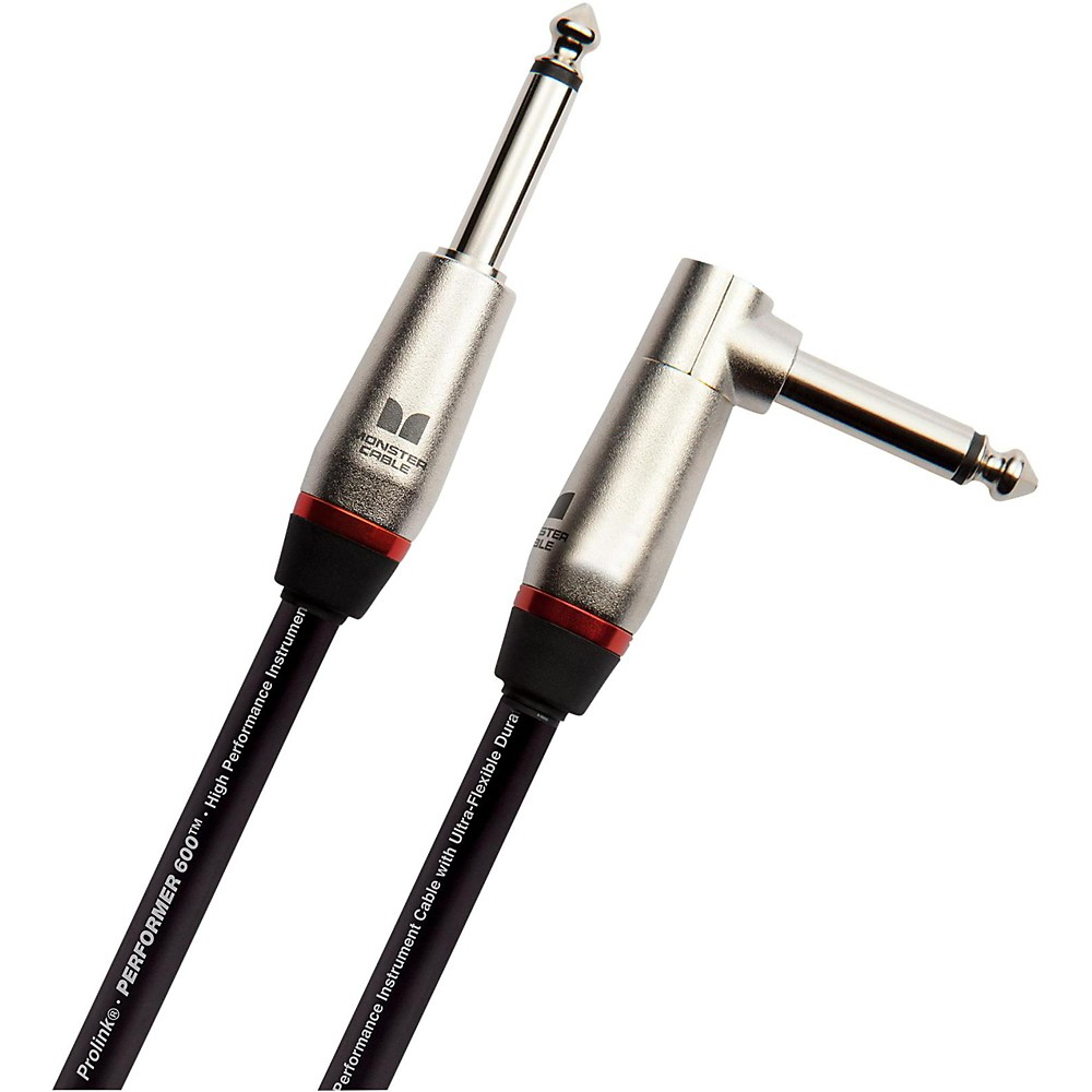 """Monster Cable Performer 600 1/4"""" Angled to Straight Instrument Cable 6 Foot"""
