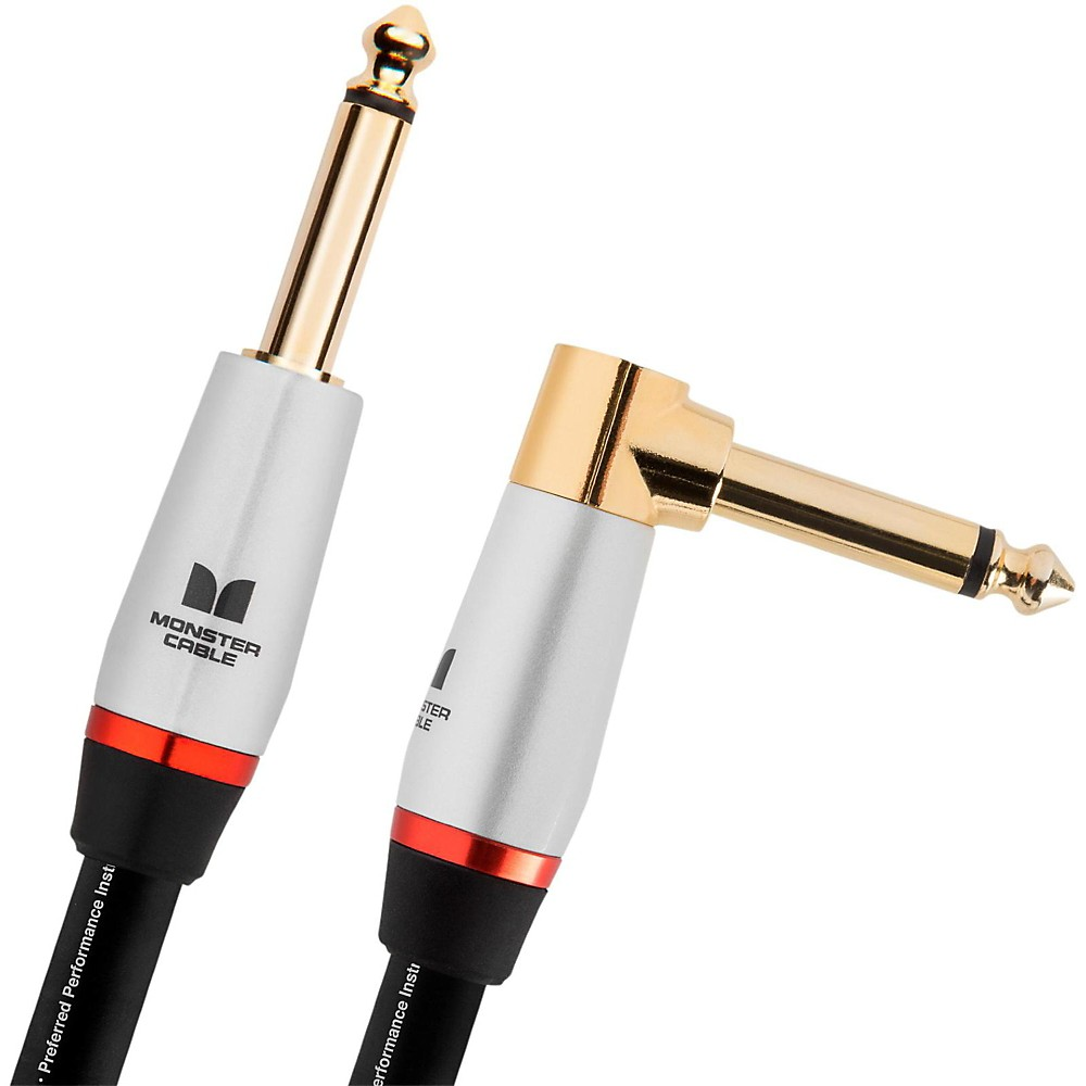 Monster Cable Studio Pro 2000 1/4 Inch Angled to Straight Instrument Cable 12 Foot