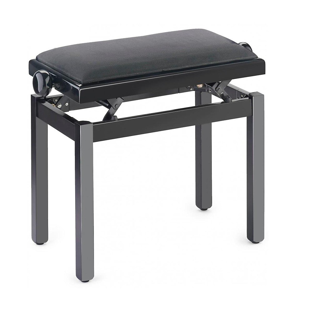 Musician 39 s gear pb39 adjustable height piano bench black velvet top black ebay Piano bench height