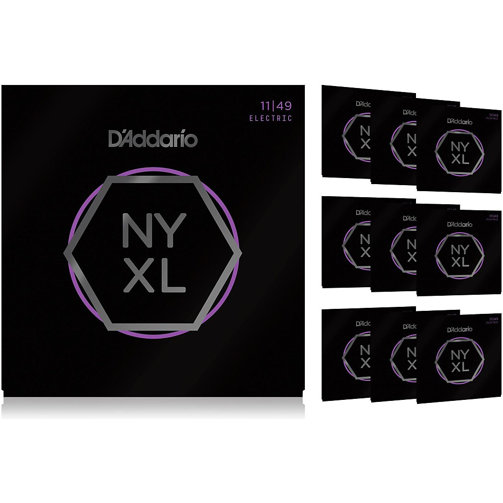 Details about D'Addario NYXL Medium Electric Guitar Strings (11-49) 10 ...