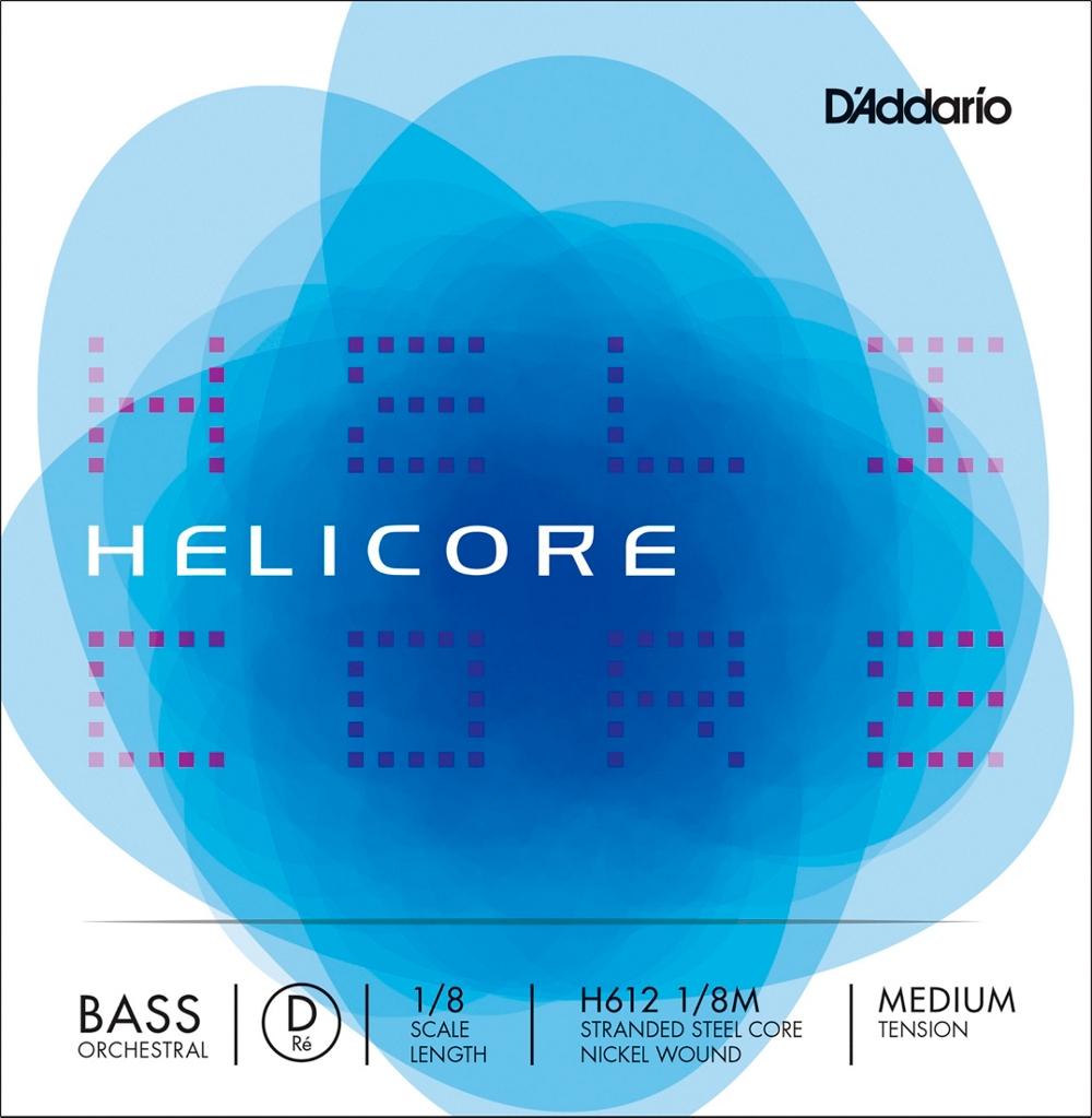 D'Addario Helicore Orchestral Series Double Bass D String 1/8 Size