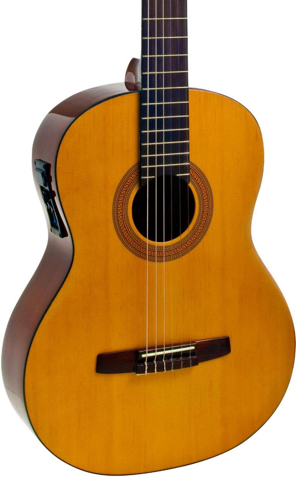 hohner a full size nylon string acoustic electric guitar natural ebay. Black Bedroom Furniture Sets. Home Design Ideas
