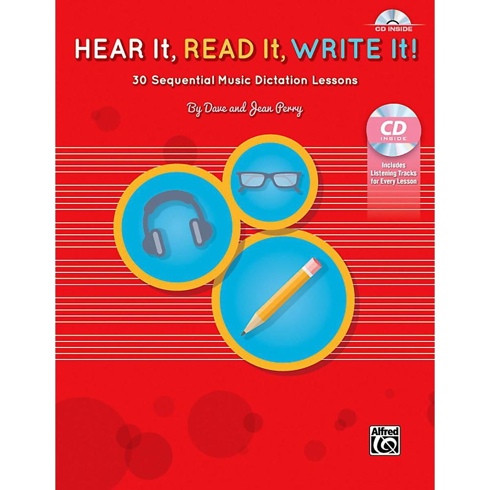 alfred hear it read it write it book amp cd ebay
