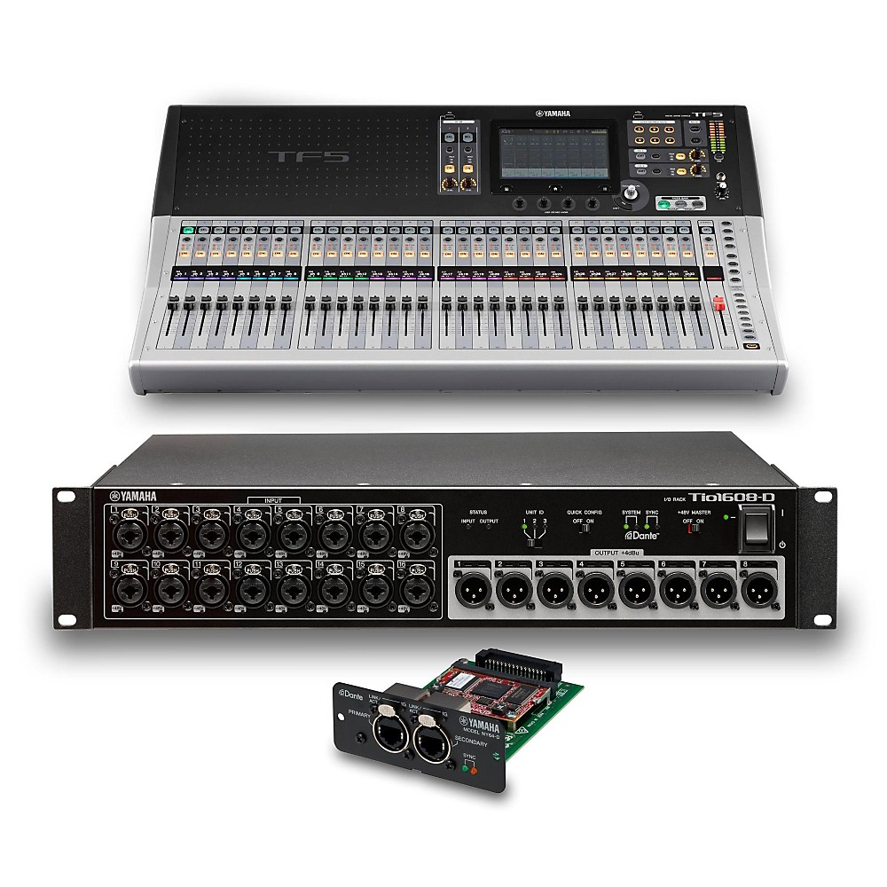 yamaha tf5 32 ch digital mixer with tio1608 d dante stage box and expansion card ebay. Black Bedroom Furniture Sets. Home Design Ideas