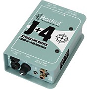 Radial Engineering J+4 Stereo Line Driver -10dB to +4dB Interface