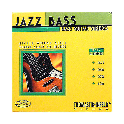 Thomastik JF324 Flatwound Short Scale 4-String Jazz Bass Strings-thumbnail