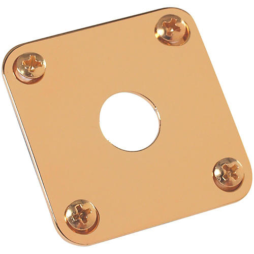 Gibson Jack Plate with Screws Gold-thumbnail