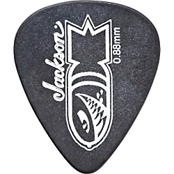 Jackson 351 Black Bomb Guitar Picks - 1 Dozen (298-7351-700)