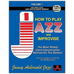 Jamey Aebersold How To Play Jazz and Improvise Book and CD (V01DS)