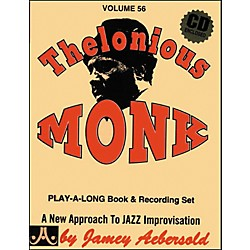 Jamey Aebersold Thelonious Monk Play-Along Book and CD (V56DS)