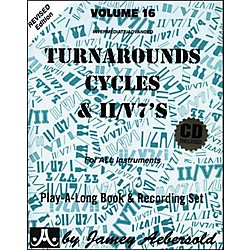 Jamey Aebersold Turnarounds, Cycles, and II/V7's Volume 16 Book and CD (V16DS)