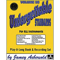 Jamey Aebersold Volume 58 - Unforgettable - Play-Along Book and CD Set (V58DS)