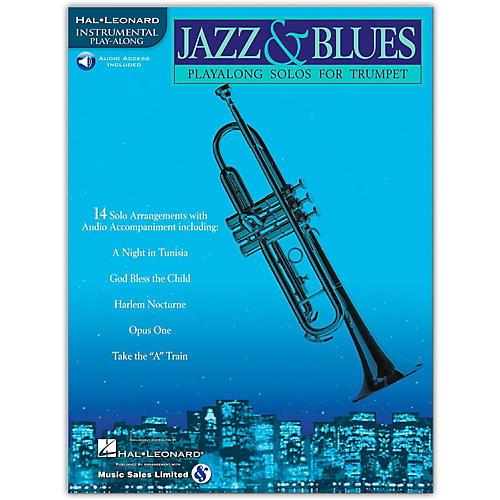 Hal Leonard Jazz & Blues Playalong Solos for Trumpet (Book/Online Audio)-thumbnail