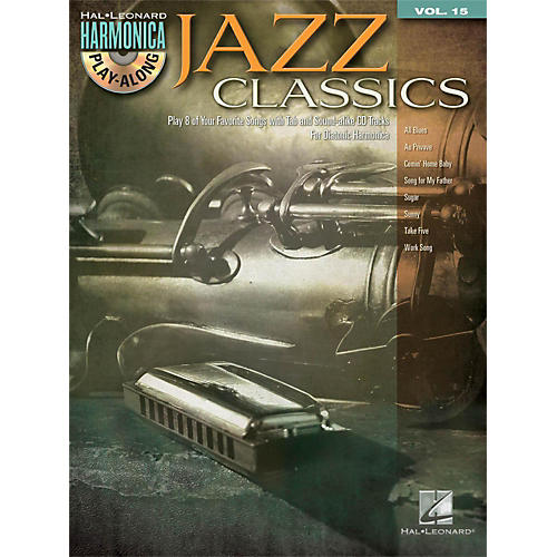 Hal Leonard Jazz Classics - Harmonica Play-Along Volume 15 Book/CD (Diatonic Harmonica)-thumbnail