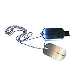 JoJo Electro 8GB USB Dog Tag Necklace (USB-79)