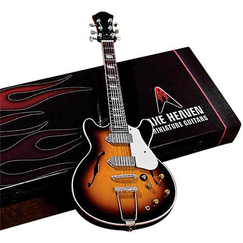 Axe Heaven John Lennon Classic 1965 Sunburst Casino Miniature Guitar Replica Collectible-thumbnail