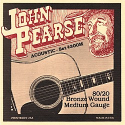 John Pearse 300M 80/20 Bronze Acoustic Guitar Strings (300M)
