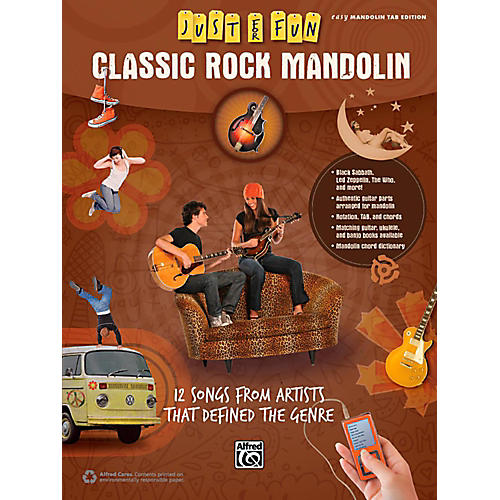 Alfred Just for Fun Classic Rock Mandolin Book-thumbnail