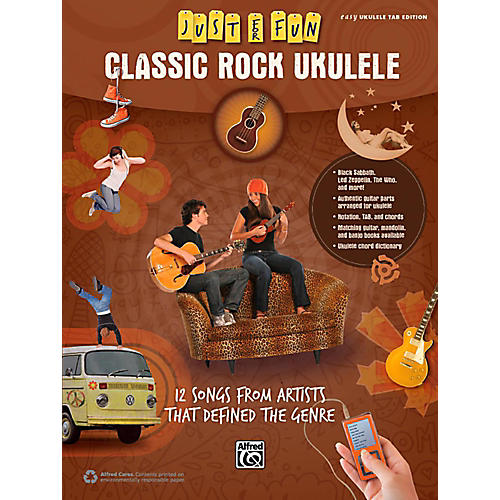 Alfred Just for Fun Classic Rock Ukulele Book-thumbnail