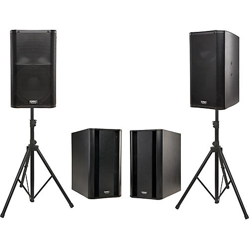 QSC K12 Powered Speaker Dual Sub Package-thumbnail