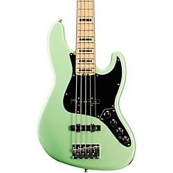 Fender Limited Edition American Elite Jazz Bass V Matching Headcap Maple Fingerboard Surf Pearl -  0170209749