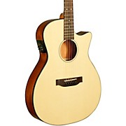 Kala KA-GTR-MTN-E Thinline Nylon String Acoustic-Electric Guitarr