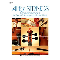 KJOS All For Strings 2 Theory Workbook String Bass (85SB)