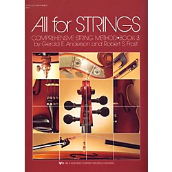 KJOS All For Strings Book 3-PIANO ACCMP (80PA)