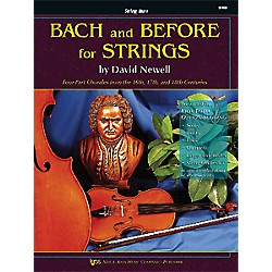 KJOS Bach And Before For Strings Str Bass (110SB)