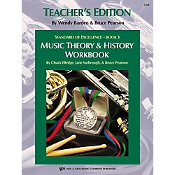 KJOS Standard Of Excellence BK3,MSC THRY/HISTORY WB-TEACHER (L23T)