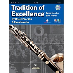KJOS Tradition Of Excellence Book 2 for Alto Clarinet (W62CLE)