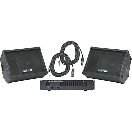 Kustom PA KPC15M / Phonic MAX 1000 Spkr & Amp Package