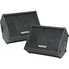 "Kustom PA KPC15M 15"" Monitor Speaker Cabinet with Horn Pair"