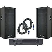 Kustom PA KPC215H / Phonic MAX 1600 Spr & Amp Package