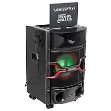"VocoPro Karaoke Rock-On-Roller DVD Karaoke System with 10"" Display and Lightshow Speaker"