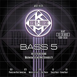 Kerly Music 5-String Bass Guitar Strings - Heavy Nickel Plated (KQXB-50130)