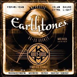 Kerly Music Earthtones 80/20 Bronze Acoustic Guitar Strings - Extra Light Gauge (KQXAB-1048)