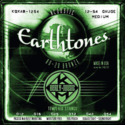 Kerly Music Earthtones 80/20 Bronze Acoustic Guitar Strings - Medium Gauge (KQXAB-1254)