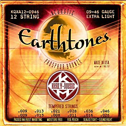 Kerly Music Earthtones Phosphor Bronze 12-String Acoustic Guitar Strings - Extra Light 9-46 (KQXA12-0946)