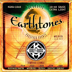 Kerly Music Earthtones Phosphor Bronze Acoustic Guitar Strings - Extra Light (KQXA-1048)