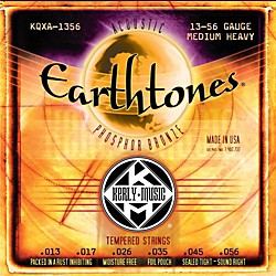 Kerly Music Earthtones Phosphor Bronze Acoustic Guitar Strings - Medium Heavy (KQXA-1356)
