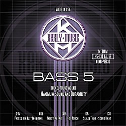 Kerly Music Nickel Plated 5-String Bass Strings Medium (KQXB-45130)