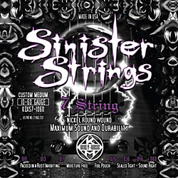 Kerly Music Sinister Strings NPS 7 String Custom Medium Electric Guitar Strings (KQXS7-1060)