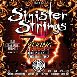 Kerly Music Sinister Strings Nickel Wound Electric Guitar Strings - 7-String Heavy (KQXS7-1158)